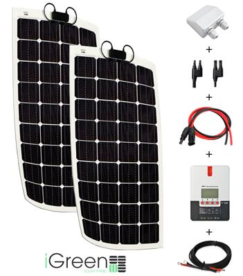 Kit panneau solaire 300W 12V / 24V camping-car complet flexible