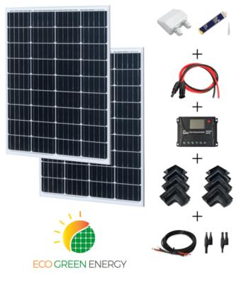 Kit panneau solaire 220W 12V / 24V camping-car complet iGreen