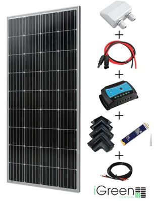 Kit panneau solaire 170W 12V camping-car complet iGreen